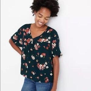 Madewell NEW floral v-neck blouse